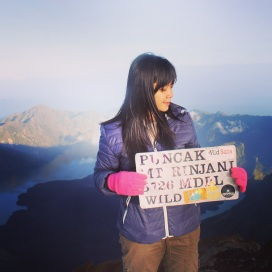 Yeaayy summit Rinjani Mountain